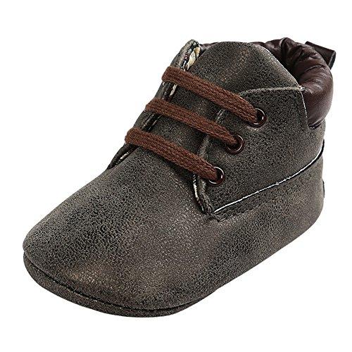 Baby Herbst Beiläufige Hohe Top T-gebunden Suede Krippe Sneakers Boots Bronze Black