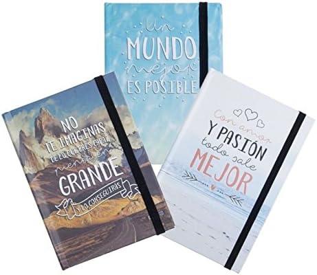Libreta moleskin frases original 3m - 10x14cm Pack 3 ud.: Amazon.es: Hogar