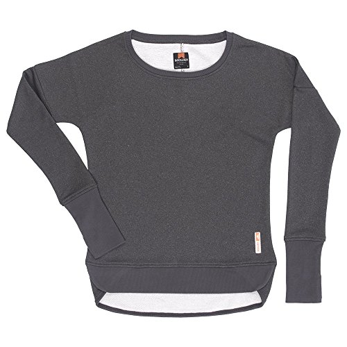 Holden Women's Premium French Terry Fleece Performance Crew Sweater, Med Heather Grey, X-Small