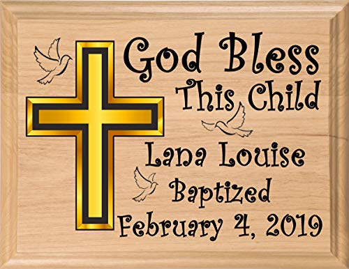 Personalized Baptism Gift Plaque Christening Gifts for Baby Girls Boys Babies Made in The USA