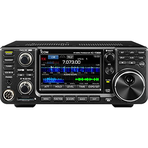 ICOM 7300 02 Direct Sampling Shortwave Radio Black - Ic Dual Audio Preamp