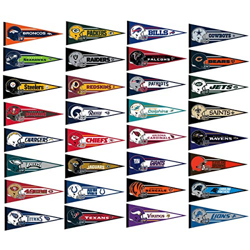 WinCraft NFL Full Size Pennant Set, Large Collection