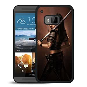 Beautiful And Unique Designed With Girl Soldier Sword Blood For HTC ONE M9 Phone Case