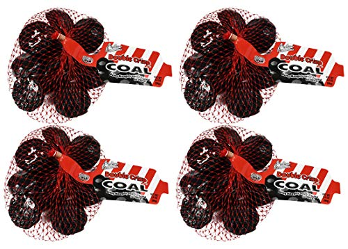 Set of 4 Double Crisp Chocolate Coal! Perfect As Funny Gifts And Stocking Stuffers! (4 Bags) ()