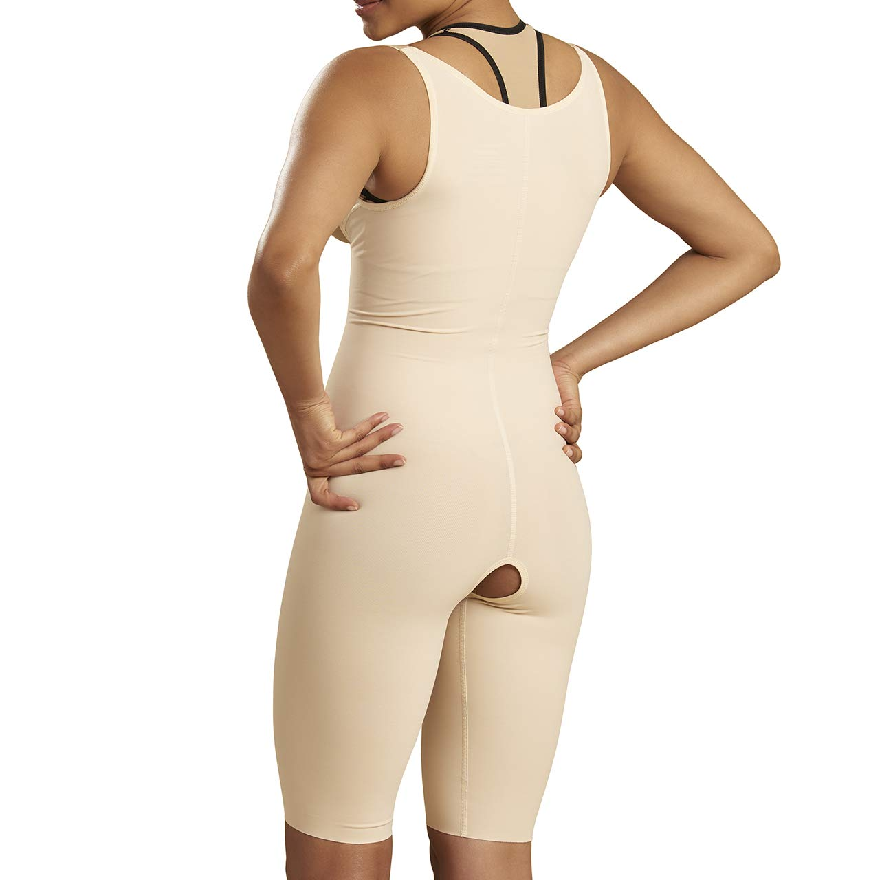 Marena Recovery Knee-Length Girdle, Step 2 (Pull on), Black, XL