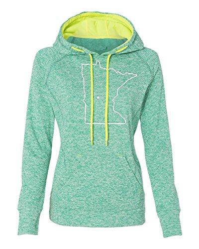 Ladies Minnesota Home Hoody (W, M, Emerald) - MN Hooded Sweatshirt by Hometown -