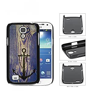 Ship Anchor Watermark On Vintage Wood Hard Plastic Snap On Cell Phone Case Samsung Galaxy S4 SIV Mini I9190