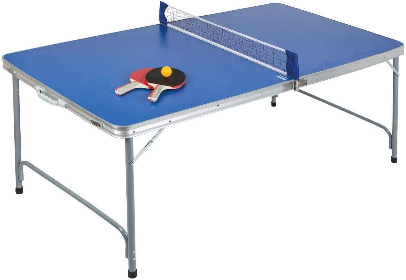 سعر Max Strength Mini Table Tennis Table Ping Pong Portable Compact Folding Movable Multi Function Tennis Table Table Tennis Table Set 2 Paddles 3 Ping Pong Balls Outdoor Indoor Picnic Table Game