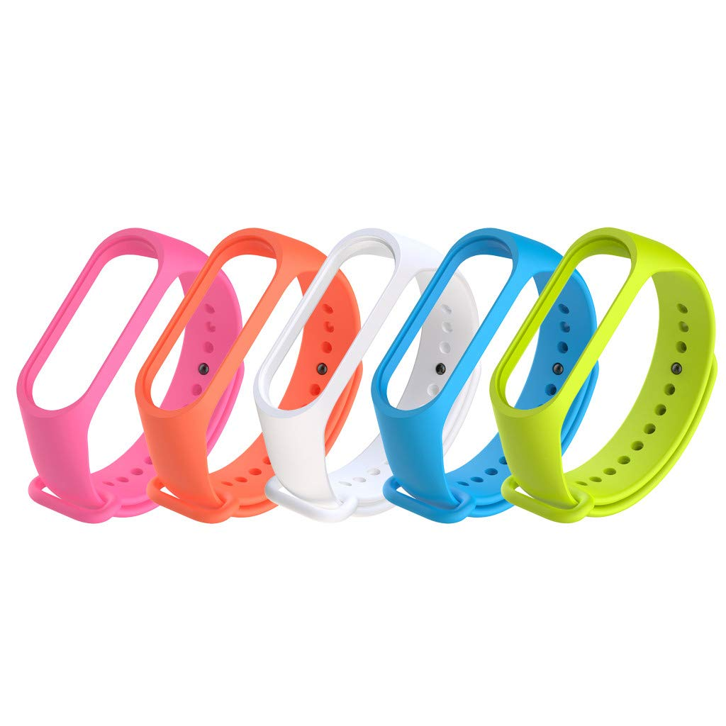5 Mallas De Colores  Para Xiaomi Mi 3/4 Band