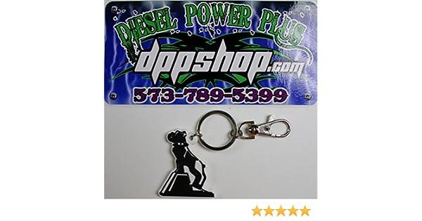 Diesel Power Plus Mack Truck Dog semi Bull Dog Bulldog Keychain Rubber