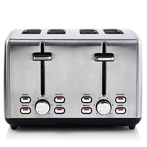 Continental Electric Appliances - Continental Electric Toaster ps77451, 4-Slice, Silver