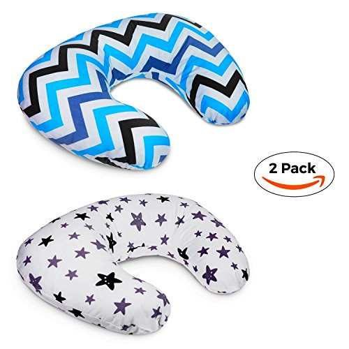 2 Pack Nursing Pillow Cover | U-Shaped Infant Nursing Pillow Covers | Newborn Feeding Cushion Cover | Perfect for Baby Shower Gift (Purple) by Aylin's Boutique