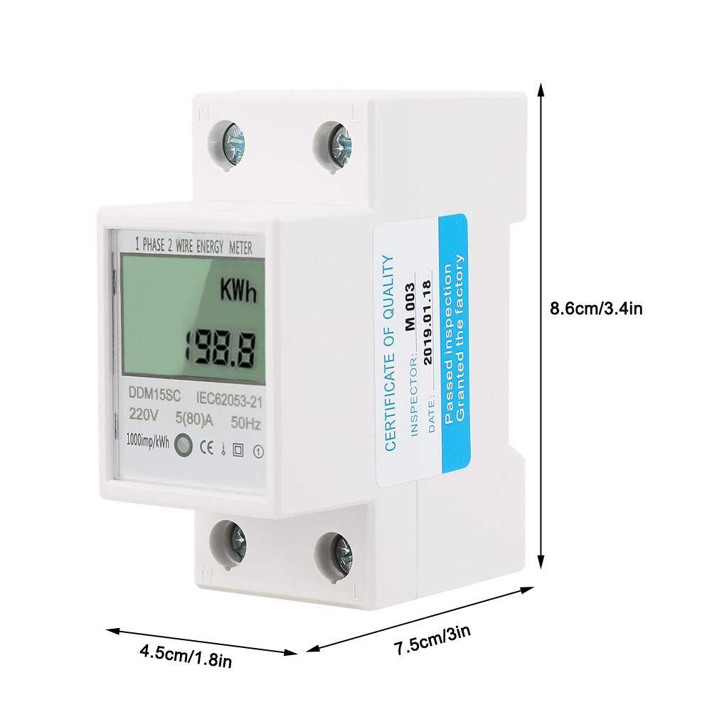 Display LCD per misuratore di energia elettrica LCD monofase 2P multifunzione DMA15SC LCD 5-80A