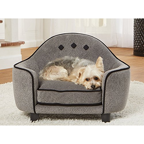 Enchanted Home Pet Headboard Grey Sofa Dog Bed by Enchanted Home