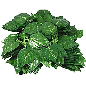 Wcysin 12 PCs Artificial Fake Leaves Hanging Vines Plant Leaves Garland Home Garden Poison Ivy Costume 49