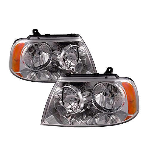 PERDE Lincoln Navigator Lite Smoke Headlamps Headlights Pair Chrome New Set Following Lincoln Navigator