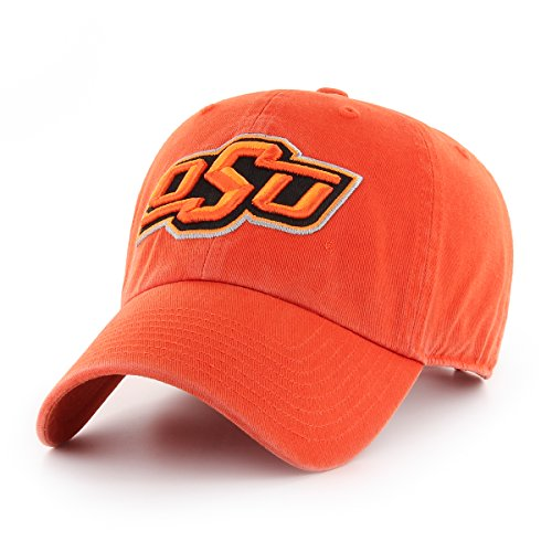 OTS NCAA Oklahoma State Cowboys Challenger Clean Up Adjustable Hat, Orange, One (Oklahoma State Cowboys University Fan)