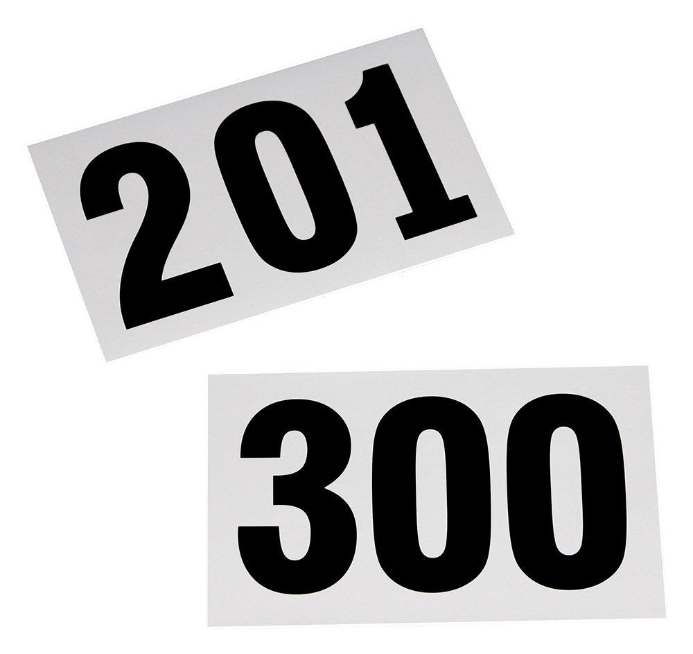 100 Startnummern für Sportveranstaltungen, Nummern 201 - 300 Boje Sport
