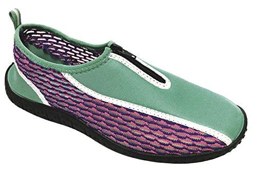 Cambridge Select Womens Slip-on Closed Toe Quick Dry Mesh Zipper Non-Slip Water Shoe Turquoise dNH26em9