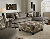 Chelsea Home Furniture Rayna 2-Piece Sectional, Groovy Smoke/Big Swirl Smoke For Sale