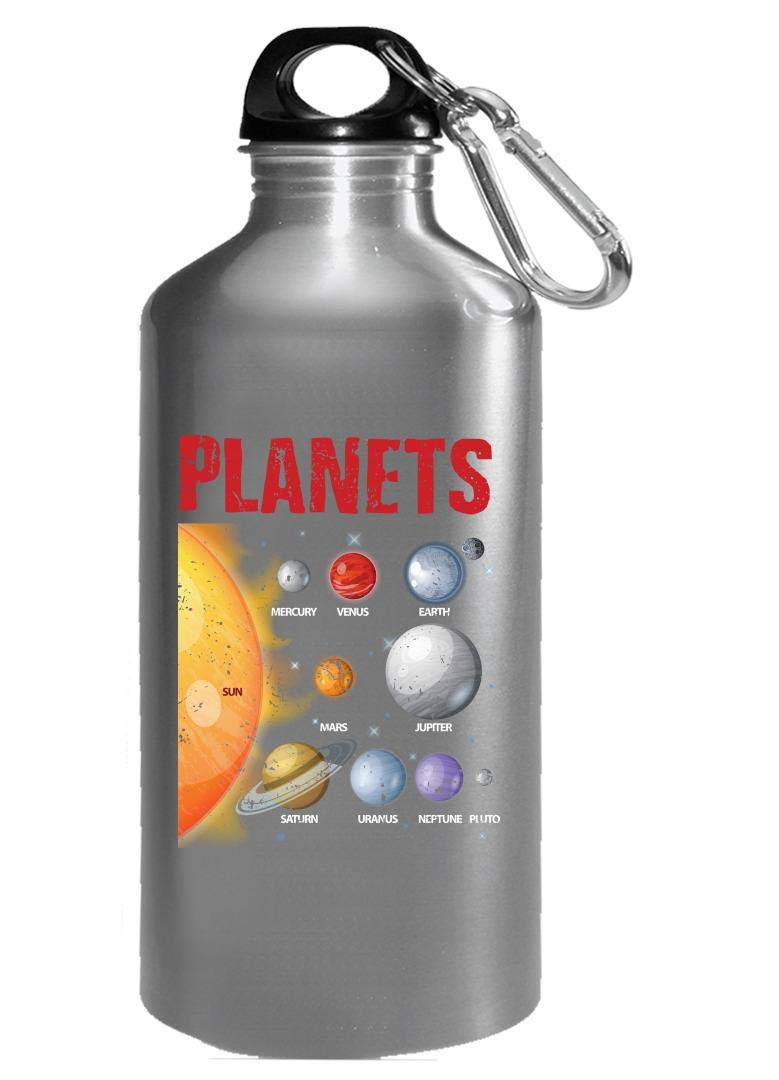 Funny Solar System - Planets Sun Moon - Space - Water Bottle