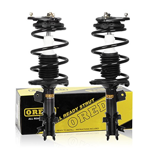 OREDY Front Pair Struts Assembly Complete Assembly Shock Absorber 172297 172298 AA1331579R AA1331579L Compatible with Hyundai Accent 2006 2007 2008 2009 2010 2011 ()