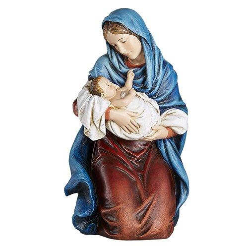 Kneeling Madonna with Child Christmas Nativity Statue Figurine, 12 1/2 Inch