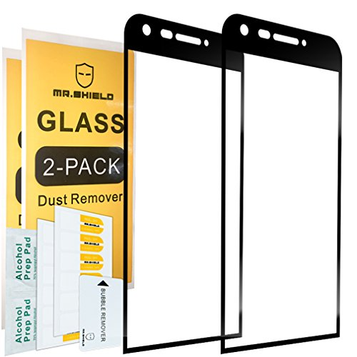 [2-PACK]-Mr Shield For LG G5 [Tempered Glass] [FullCover] [Black] Screen Protector with Lifetime Replacement Warranty