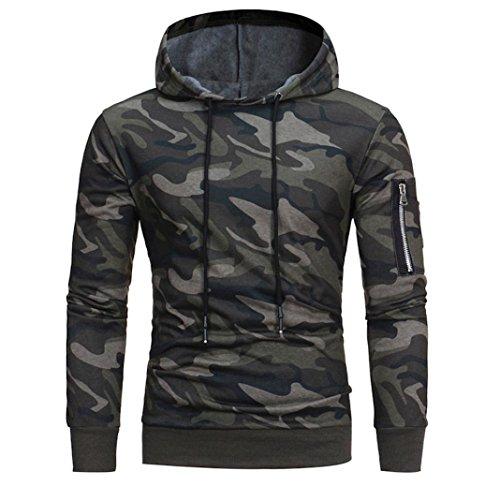 60%OFF Sharemen Men's Long Sleeve Camouflage Pullover Hooded