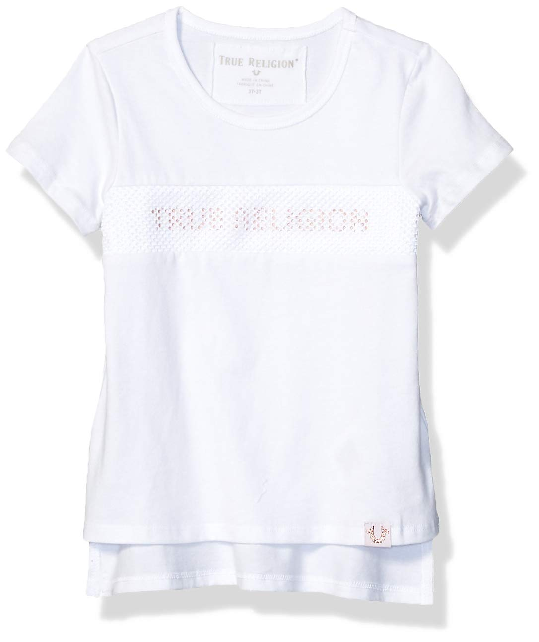 True Religion Girls' Toddler Fashion Short Sleeve Tee Shirt, core White, 2T by True Religion