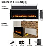 PuraFlame Alice 60 Inches Recessed Electric