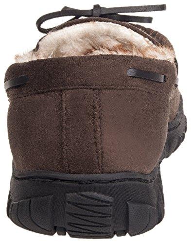 Mixin Hommes Confortables Mocassins En Microsuede Semelle En Caoutchouc Intérieur En Plein Air Conduite Mocassins Pantoufles Chaussures Marron Foncé