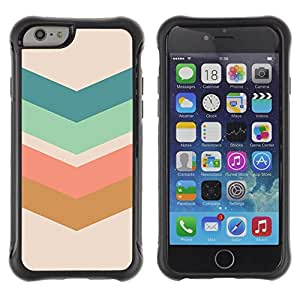 "Hypernova Defender Series TPU protection Cas Case Coque pour Apple Iphone 6 [Flecha Modelo en colores pastel Verde Marrón""]"