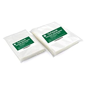 """100 Vacuum Sealer Bags 50 Each Size:Quart 8""""x12""""and Gallon 11""""x16""""for Food Saver, Seal a Meal Vac Sealers, Sous Vide Vaccume Safe, Heavy Duty Commercial Grade Pre-Cut Storage Bag."""