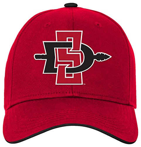 (NCAA by Outerstuff NCAA San Diego State Aztecs Kids & Youth Boys Basic Structured Adjustable Hat, Red, Youth One Size)