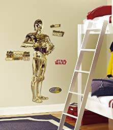 Roommates Rmk1591Gm Star Wars Classic C3Po Peel And Stick Giant Wall Decal