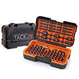 Impact Screwdriver Bit Set, TACKLIFE 60-Piece Torsion Bits Set for High Torque Drilling, Forged S2 Alloy Steel, Cool Solid Portable Case Included | PSDB1B