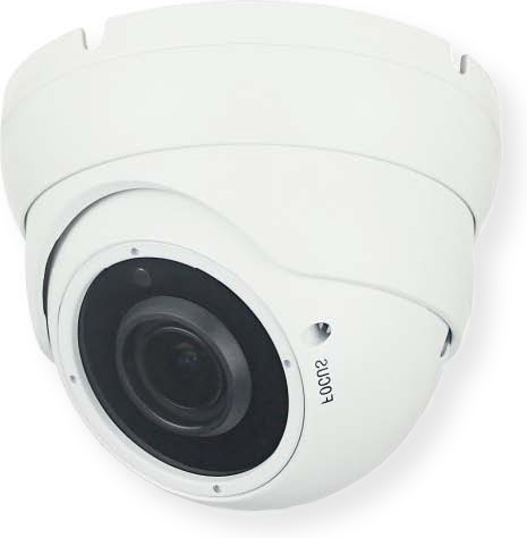 COP-USA CD39IR-4N1S Closed Circuit Television Varifocal Dome Camera With 2.4 MegaPixelSONY Image Sensor, 1080p Resolution, Night Vision, White, Pack of 1