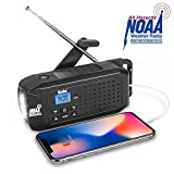 Best Emergency Weather Radios - KELLO Emergency Solar Hand Crank Portable Radio, NOAA Review