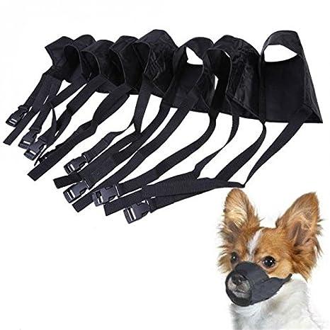 Pet Dog Muzzle Mesh Nylon Adjustable Bite Anti No Mask Puppy Mouth Barking Bark