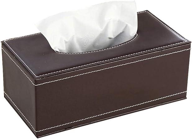 Caja de Pañuelos Caja de Cuero para Toallas de Papel para Decoración Hogar y Oficina, Marrón, 20 x 12 x 9.5 cm: Amazon.es: Hogar