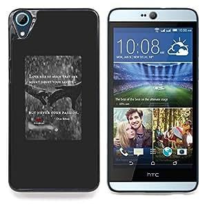 """Corazón del amor Lluvia Cita Cartel Manos Rojas"""" - Metal de aluminio y de plástico duro Caja del teléfono - Negro - HTC Desire 626 626w 626d 626g 626G dual sim"""
