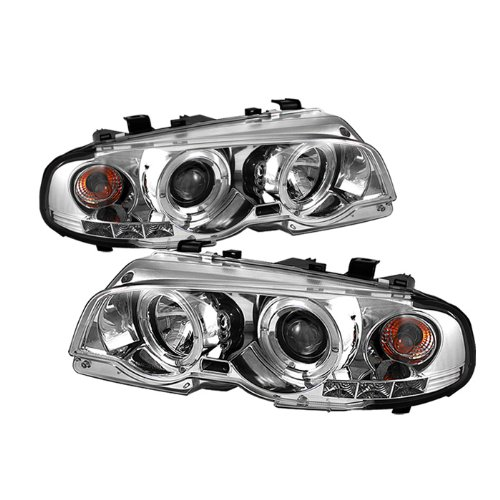 (BMW E46 3Series 2DR / M3 2DR 1PC Projector Headlights LED Halo LED Chrome Housing With Clear Lens)