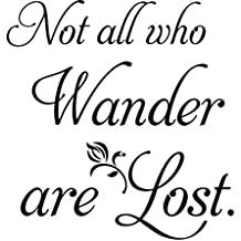 vnlege accent wall decor sticker Not All Who Wander Are Lost for living room bedroom home décor