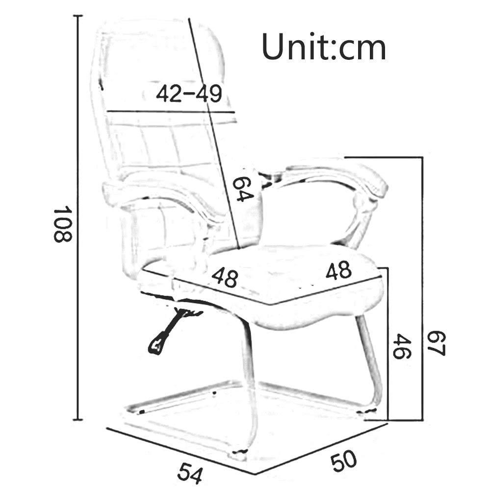 JIEER-C Fritidsstolar kontorsstol ergonomisk lutningsfunktion verkställande stol PU-säte datorstol armstöd sitthöjd 46 cm hållbar stark Vitt