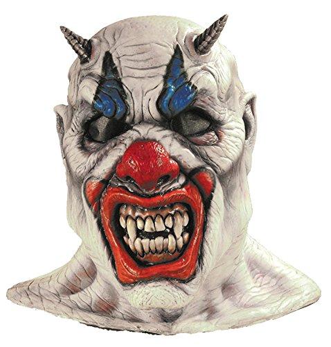 Insane Person Halloween Costume (Misery Evil Insane Circus Scary Clown Horror Latex Adult Halloween Costume Mask)