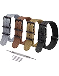 NATO Strap 16mm 18mm 20mm 22mm Premium Nylon Watch Band Strap with Stainless Steel Buckle