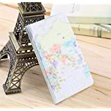 Simple Travel ID&Document Holder Utility Pu Leather Passport Cover 6 Colors 2016 Worldwide Sale-Beige map
