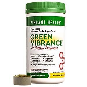 Vibrant Health - Green Vibrance, A Comprehensive, Restorative, Advanced Daily Superfood + Vegan D3, 30 servings