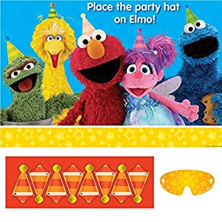 amscan 271672 Party Game | Sesame Street Collection, Multicolor, One Size